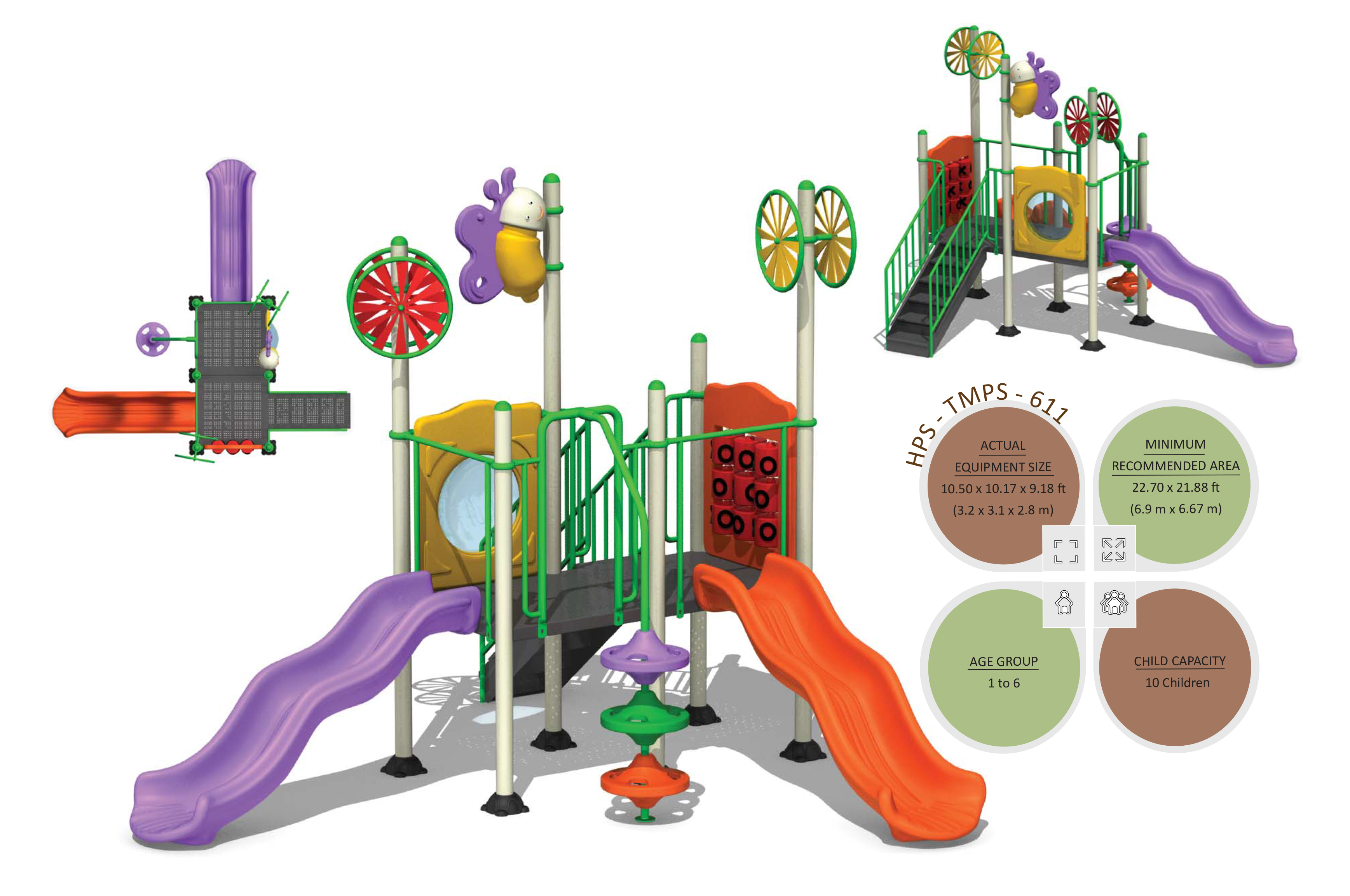 Outdoor Playground Equipments India Tmps 611 Toddlers