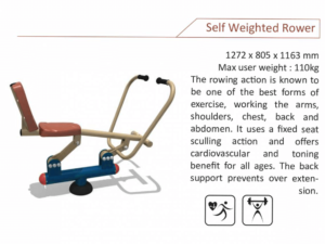 Self Weighted Rower